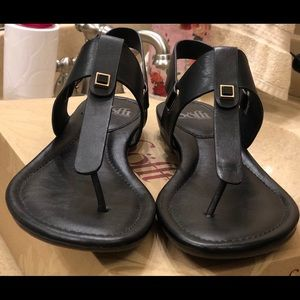 Pair of Sofft black leather sandals. Worn once.